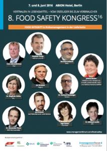 Agenda Food Safety Kongress Berlin 2016