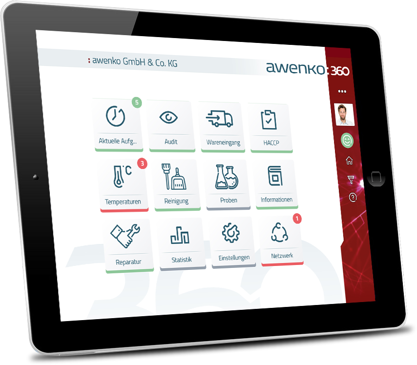 QM Qualitätsmanagement Software auf Tablet