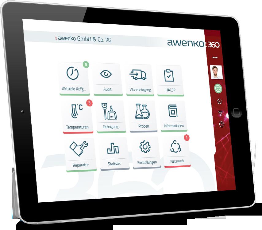 QM-Software auf dem Tablet